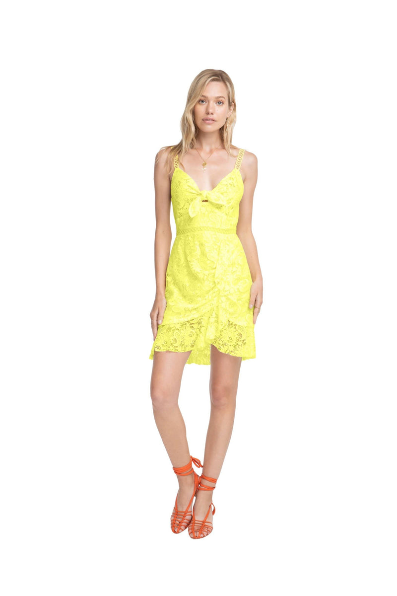 ASTR Dress Joey Dress Lemon Drop Yellow