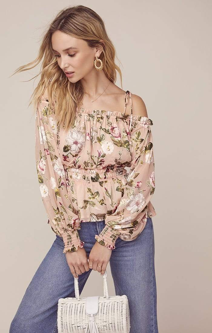 Harlee Floral Top Dusty Mauve