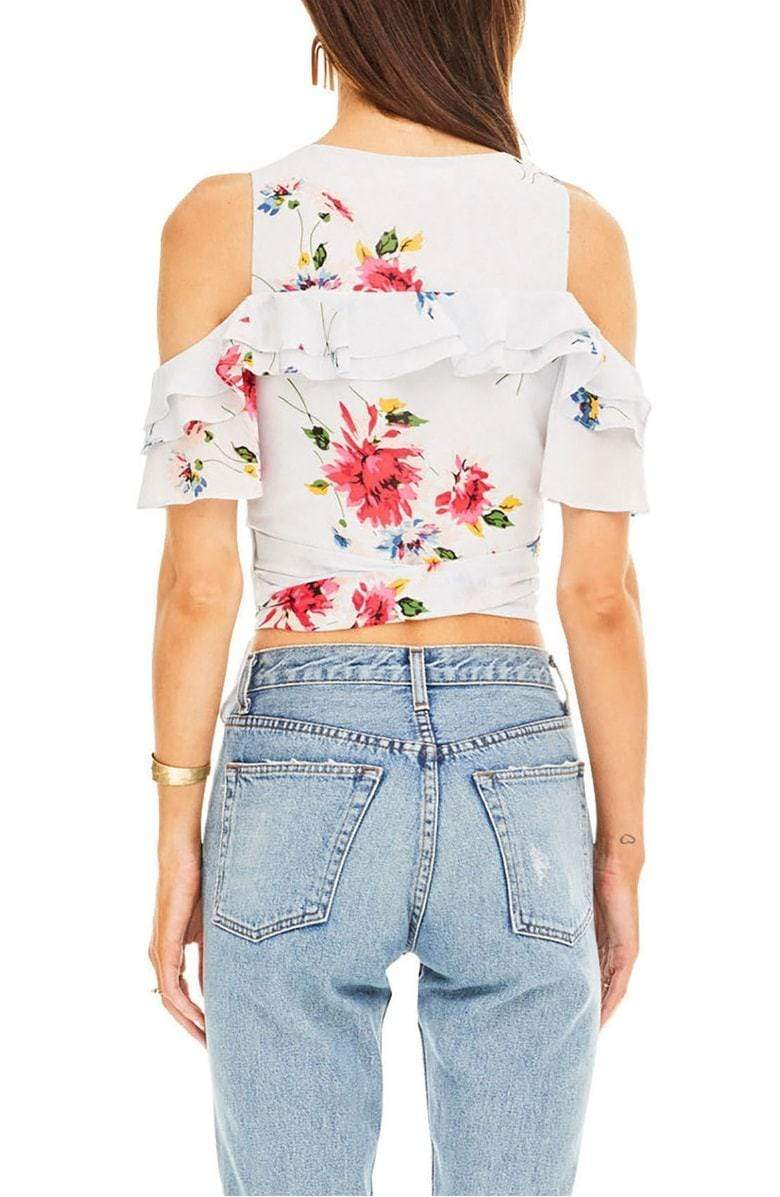 Lauren Top Ice Blue Multi Floral