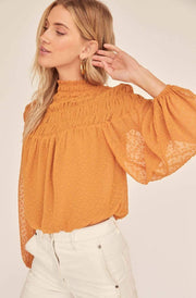 ASTR Tops Blouse Libra Top Golden Hour
