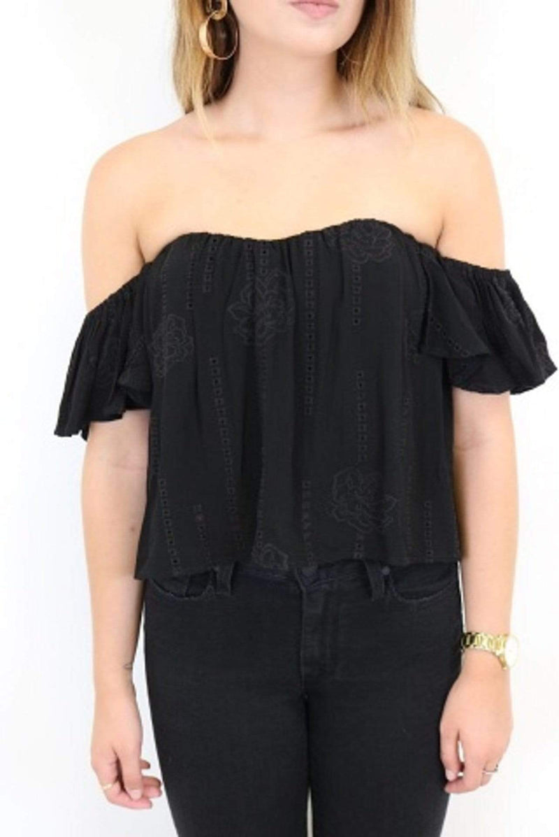 ASTR Tops Blouse Small / Black / ACT12271 Amara Top
