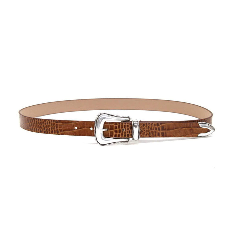 B-Low The Belt Belts Medium / Cognac/Silver / BH173-710LE Wylder Croco Belt Cognac/Silver