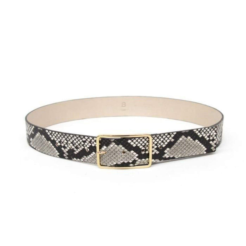 B-Low The Belt Belts Small / White Gold / BT1640-700LE Milla Python Belt White Gold