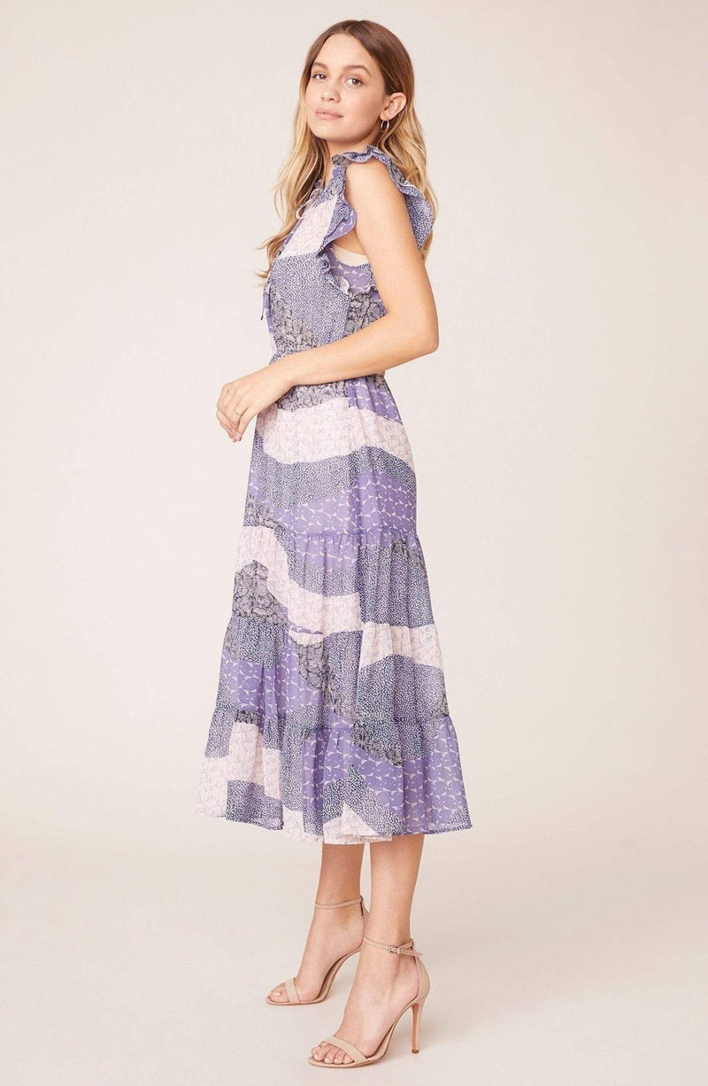 BB Dakota Dress All Mixed Up Midi Dress Steel Lavender