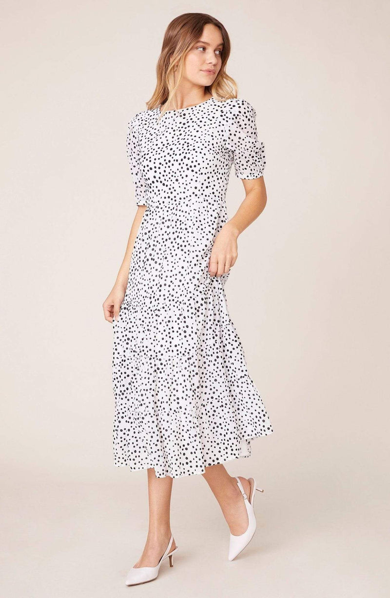 Something About Dots Dress Ivory