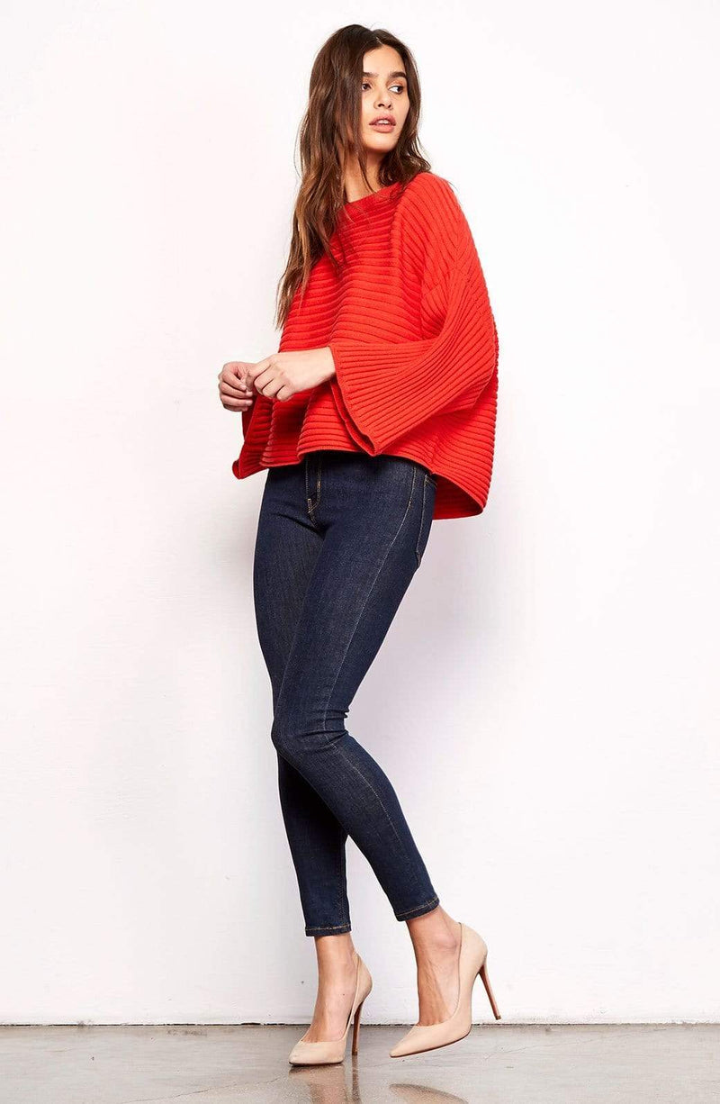 BB Dakota Sweater Claudel Wide Sleeve Sweater Poppy Red