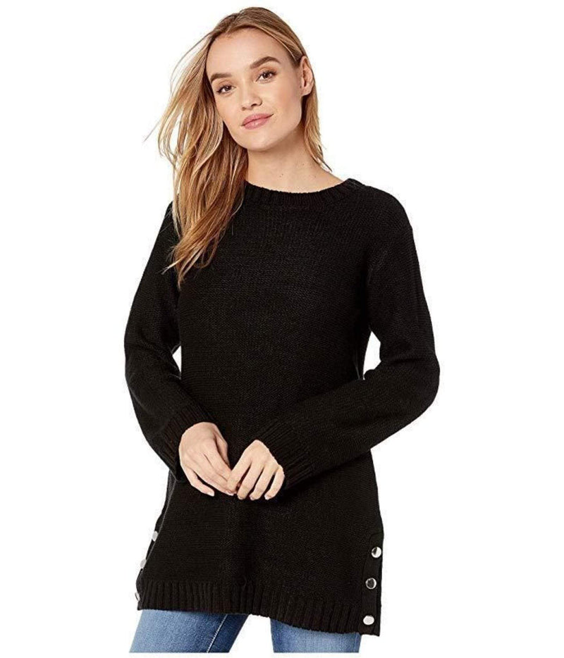 Snap Happy Sweater Black