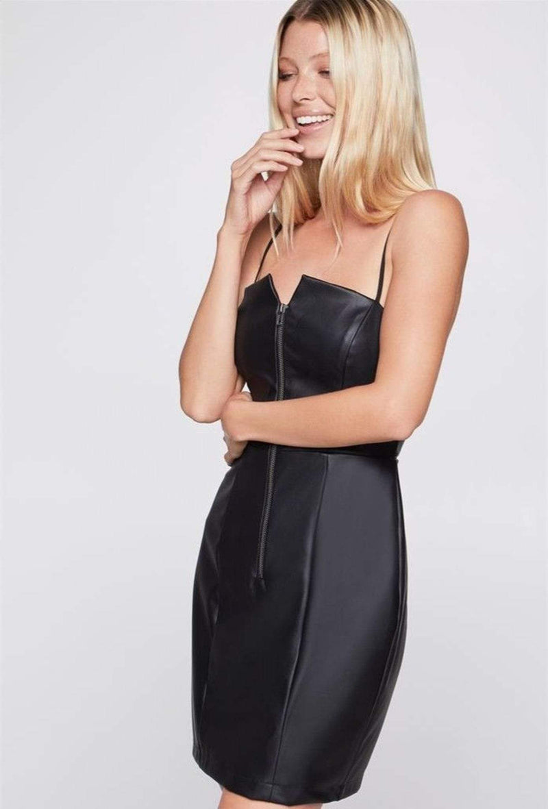 BCBGeneration Dress Blair Strapless Zip Dress Black