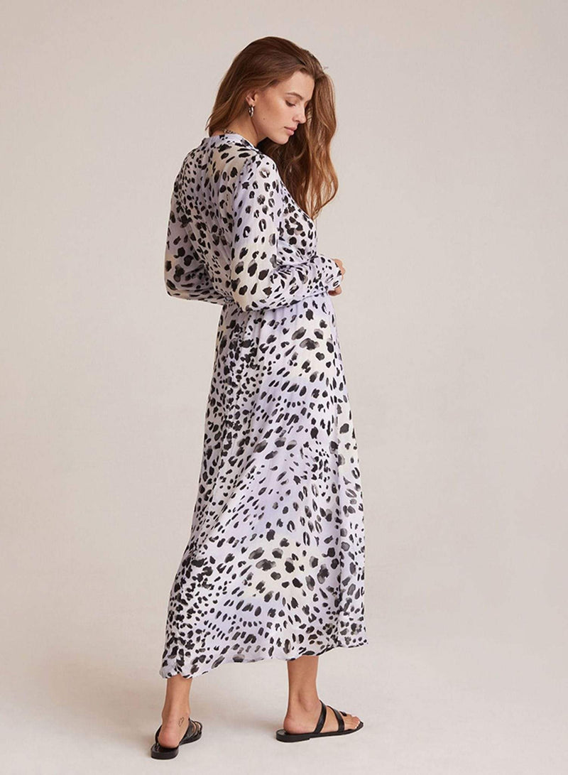 Bella Dahl Dress Ink Dots Maxi Shirt Dress Black/White