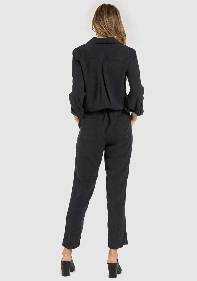 Bella Dahl Dress Large / Black / B6716-654-303 Bina Utility Jumpsuit