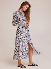 Bella Dahl Dress Small / Black/White / B6438-B14-304 Ink Dots Maxi Shirt Dress Black/White