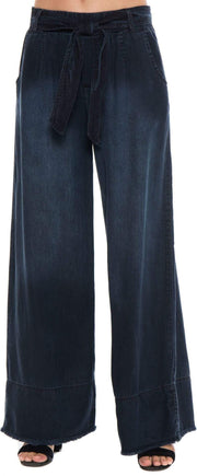 Bella Dahl Pants X Small / Night Sky Wash / B3957-679-804 The Belted Wide Leg Pant Sky Wash