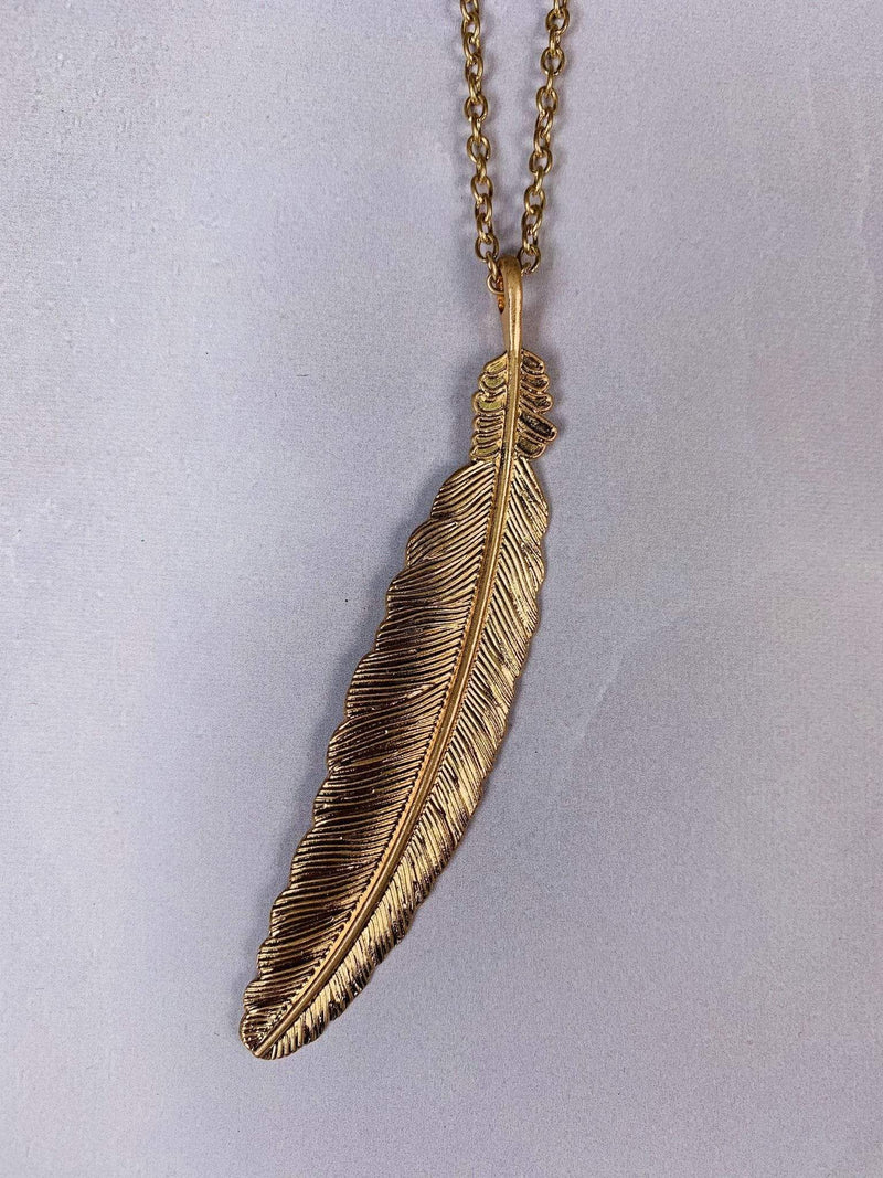 Bijoux Necklace One Size / Gold / 149-AN1711-WG Daphne Feather Gold