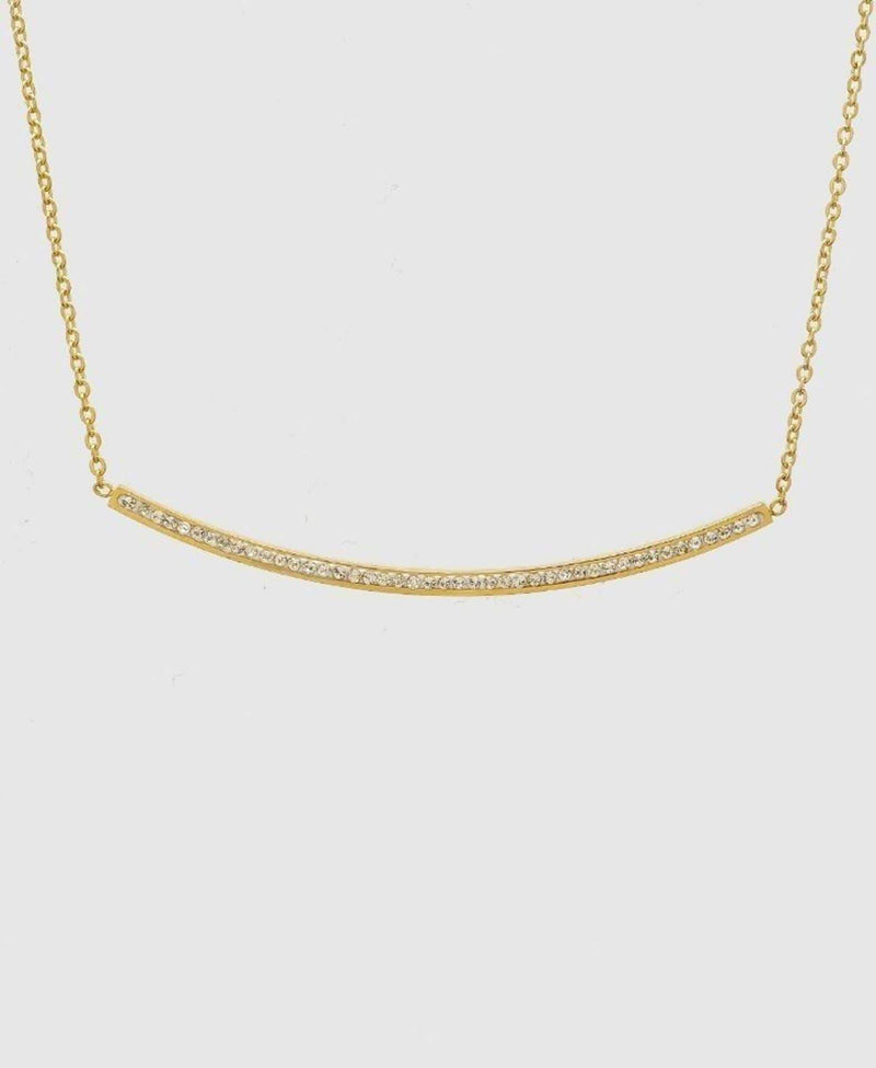 Bijoux Necklace One Size / Gold / 149-B327-GDCRY Carter Diamond Bar Necklace
