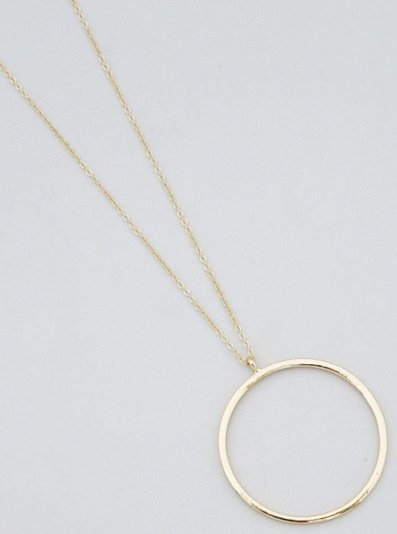 Bijoux Necklace One Size / Gold / 61-N9088-GD Adeline Circle Pendant Gold