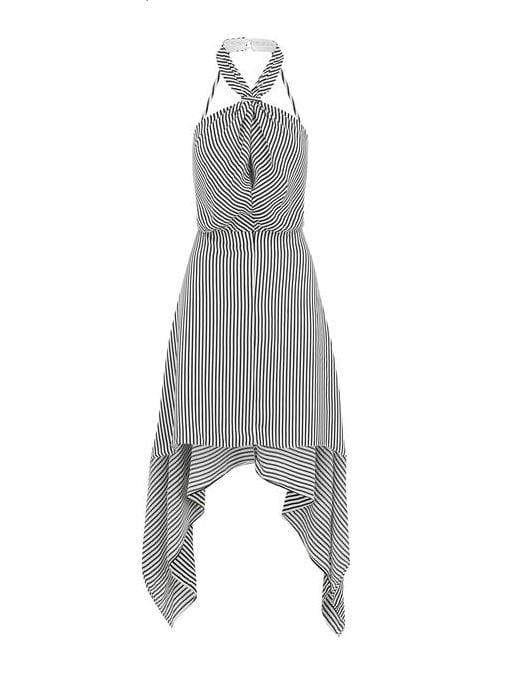 Bishop and Young Dress Ana Stripe Halter Dress