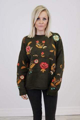Emily Embroidered Pullover