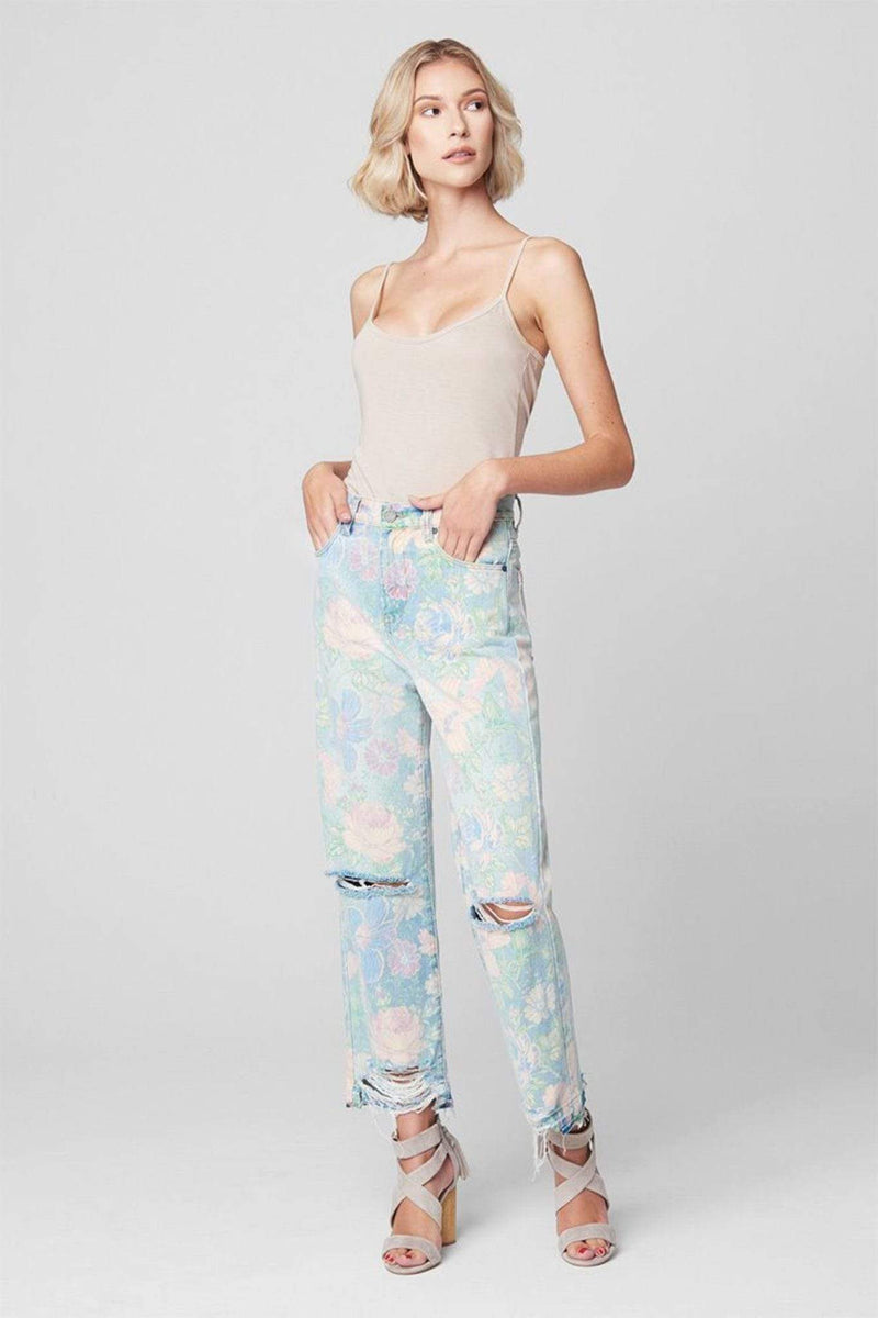 Nirvana Floral Destructed Denim Multi