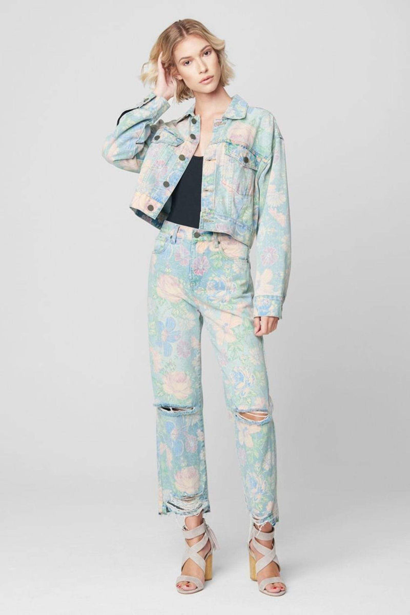 Blank NYC Denim Size 24 / Multi / 22RX2312 Nirvana Floral Destructed Denim Multi