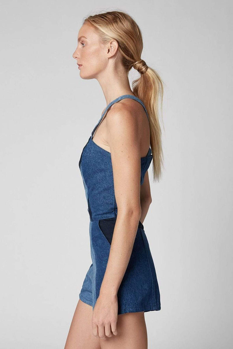 Blank NYC Dress Mixed Emotions Denim Romper