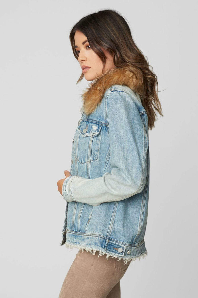 Blank NYC Jacket Awesome Sauce Denim Trucker Jacket