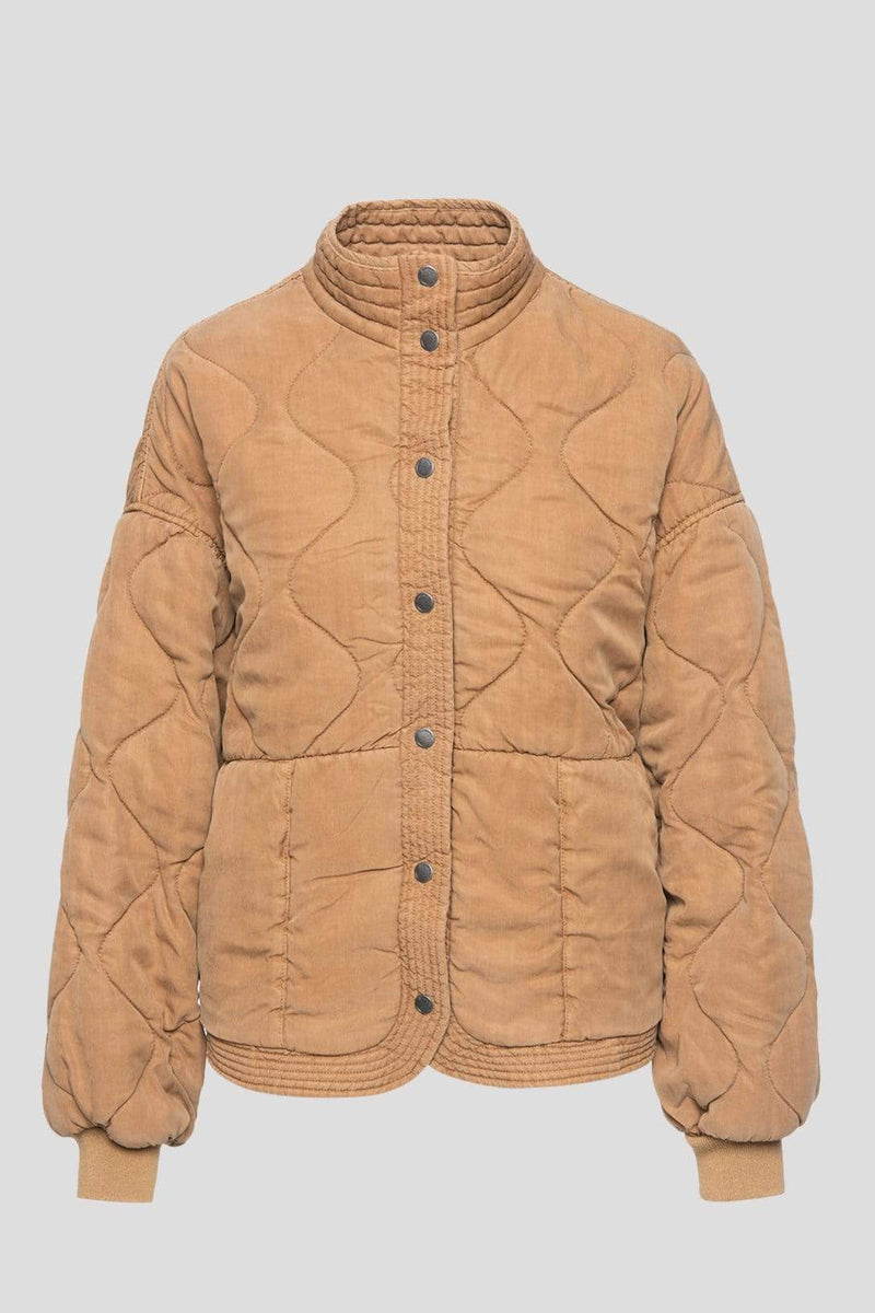 Blank NYC Jacket Chai Tea Quilted Jacket Tan
