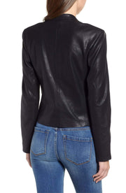 Blank NYC Jacket Mean Streets Leather Blazer Black