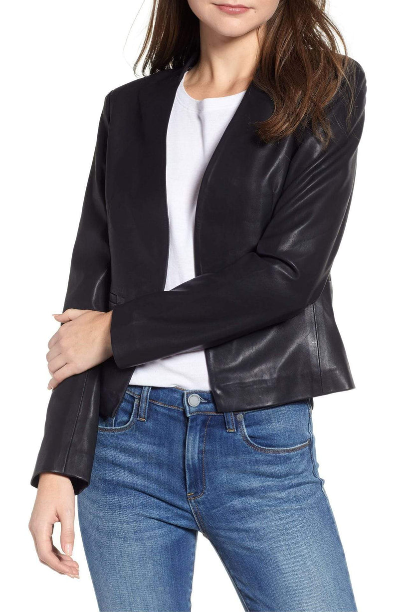 Blank NYC Jacket Medium / Black / 13U-5080 Mean Streets Leather Blazer Black