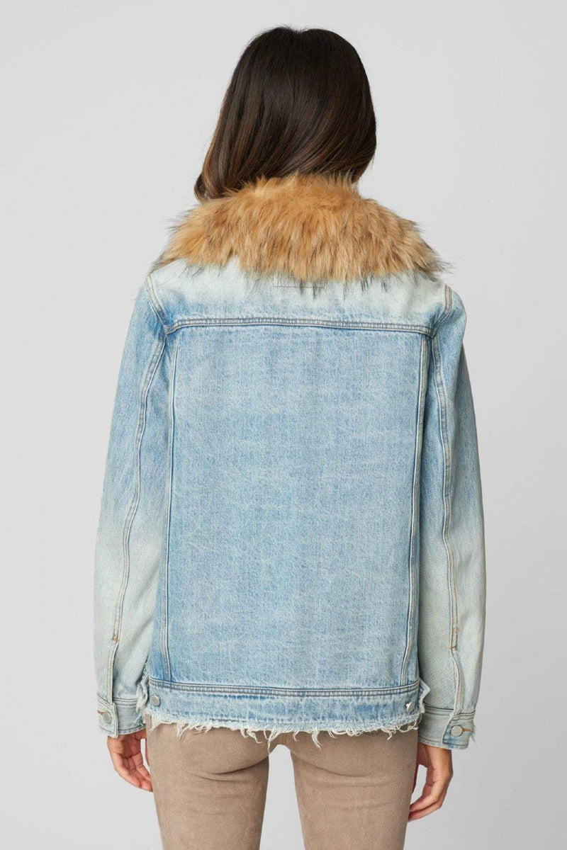 Blank NYC Jacket Medium / Light Blue / 57KR5022 Awesome Sauce Denim Trucker Jacket