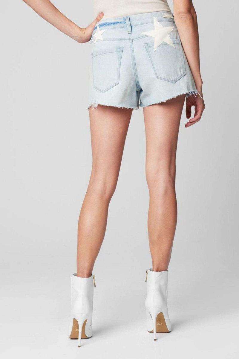 Allstar Vintage High Rise Denim Shorts Light Blue