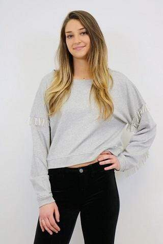 Blank NYC Sweater No Joke Sweater Grey