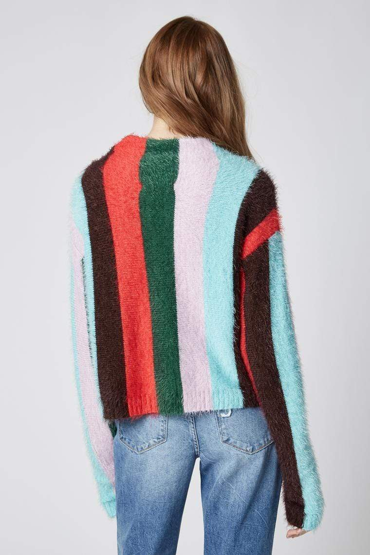 Blank NYC Sweater The Mad Hatter Stripe Sweater