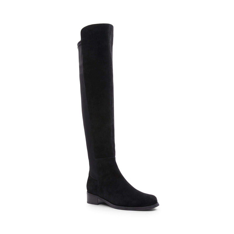 Velma Over the Knee Boot Black Suede