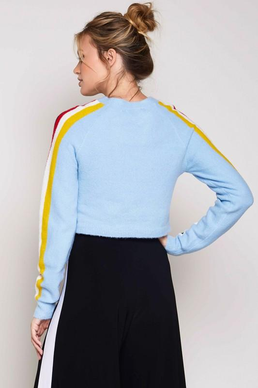 Harmony Cropped Sweater Blue