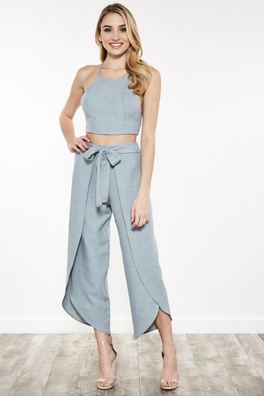 Kahlilia Crop Top Dusty Mint