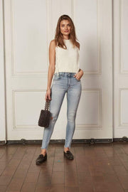 Boyish Jeans Denim The Donny West Side Story High Rise Destructed Skinny  Light Wash