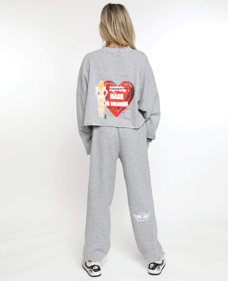 Boys Lie Bottoms Match Made in Heaven Sweatpants Grey