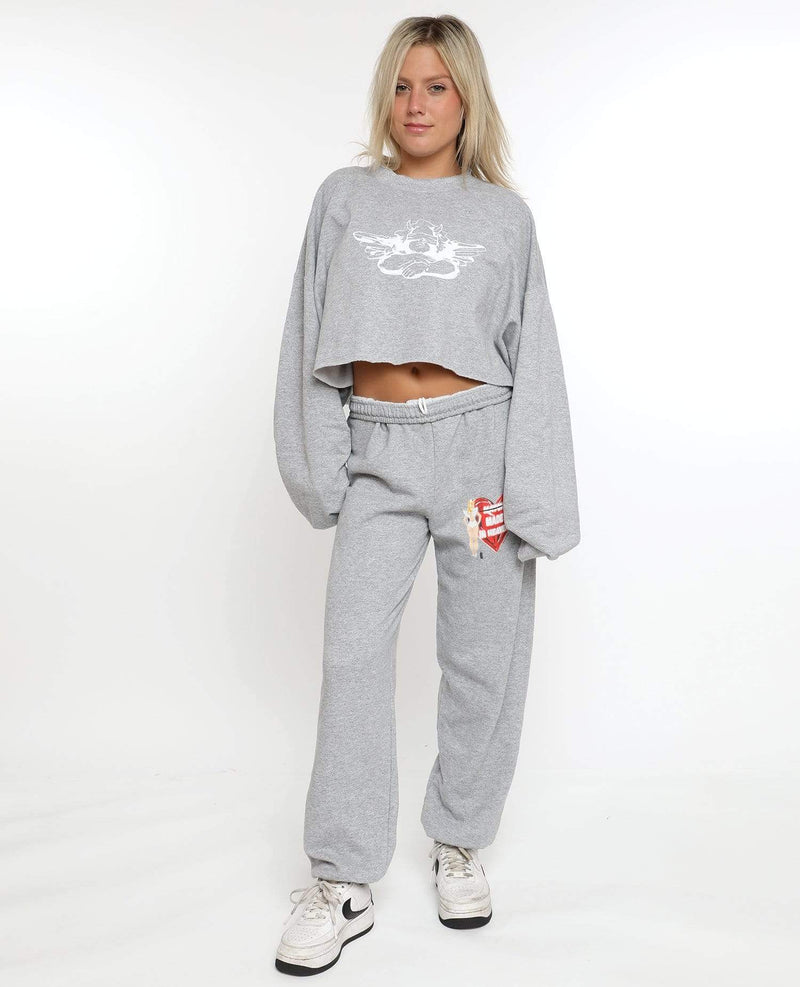 Boys Lie Bottoms Small / Grey / BSL00490D Match Made in Heaven Sweatpants Grey