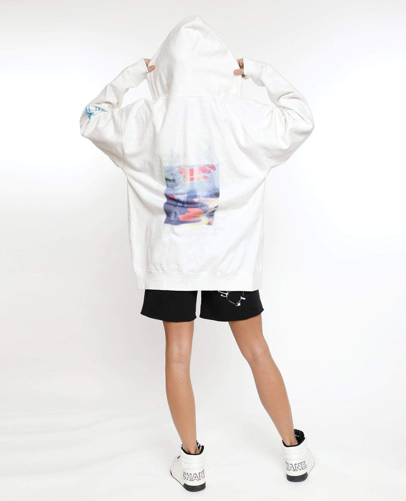 Boys Lie Jacket One Size / White / BSL00419D Feelings Come, Feelings Go Zip Up Hoodie White