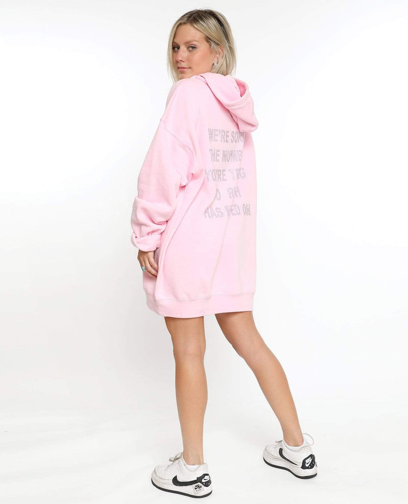 Boys Lie Outerwear One Size / Pink / BSL00470D 1-800 Remix Hoodie Pink