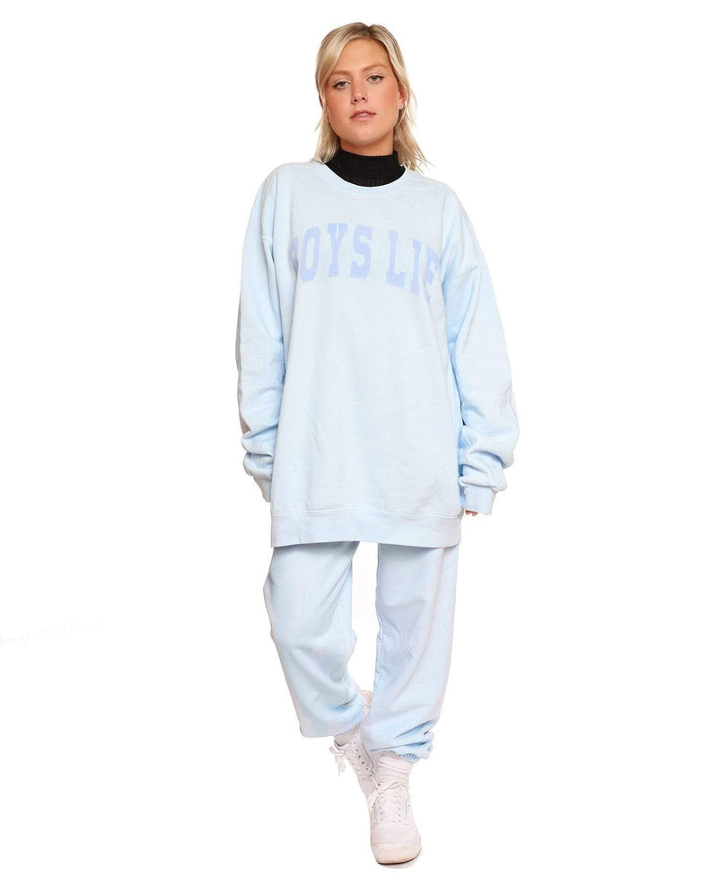 Catching Feelings Crewneck Chambray
