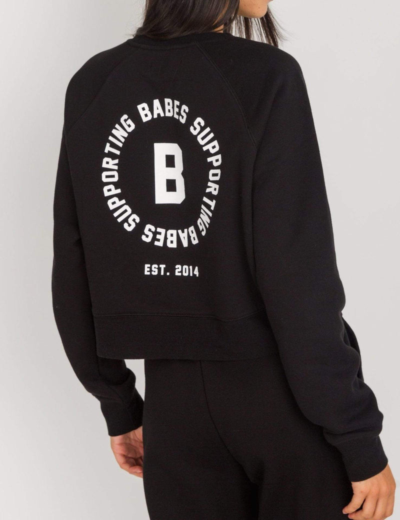 Brunette the Label Jacket Little Sister Cropped Sweatshirt Black