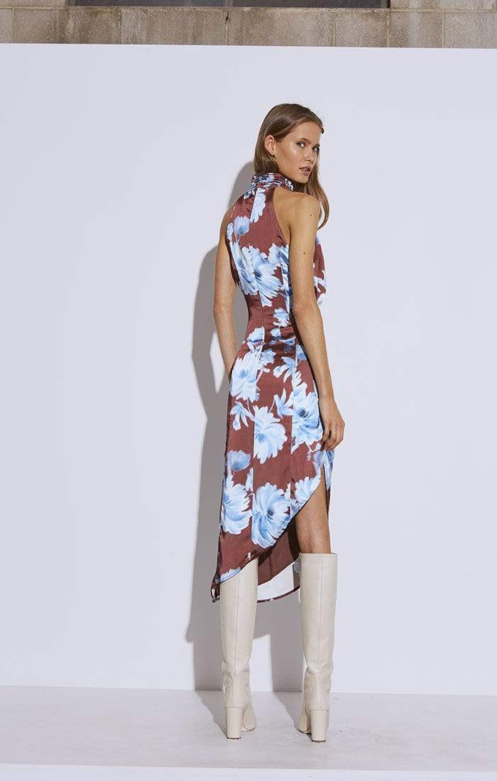In Bloom Dress Mahogany Washed