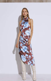 Cameo Dress In Bloom Dress Mahogany Washed