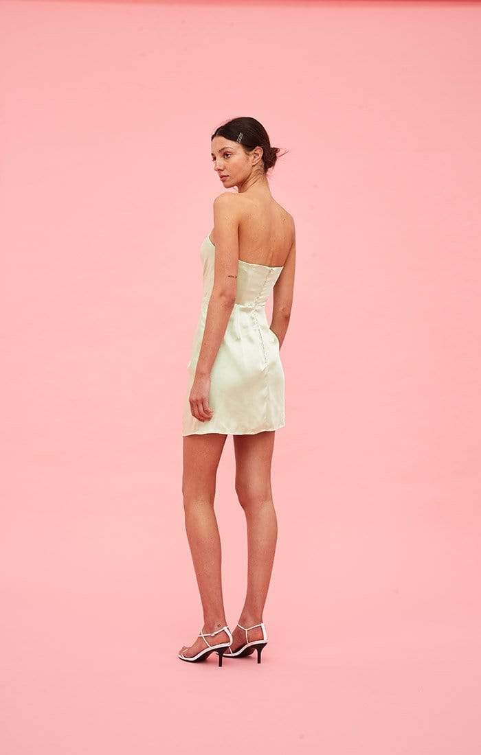 My Way Strapless Mini Dress Citron