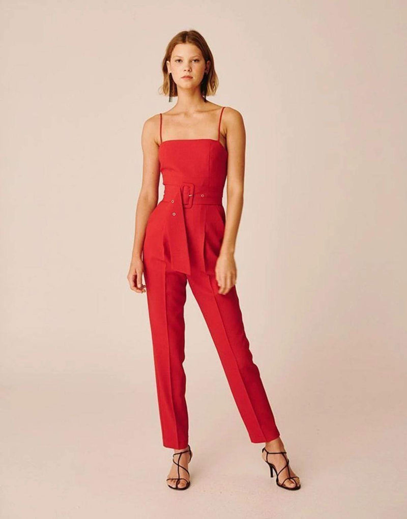 Cameo Dress Small / Red / 10190644 As Long As Jumpsuit Red
