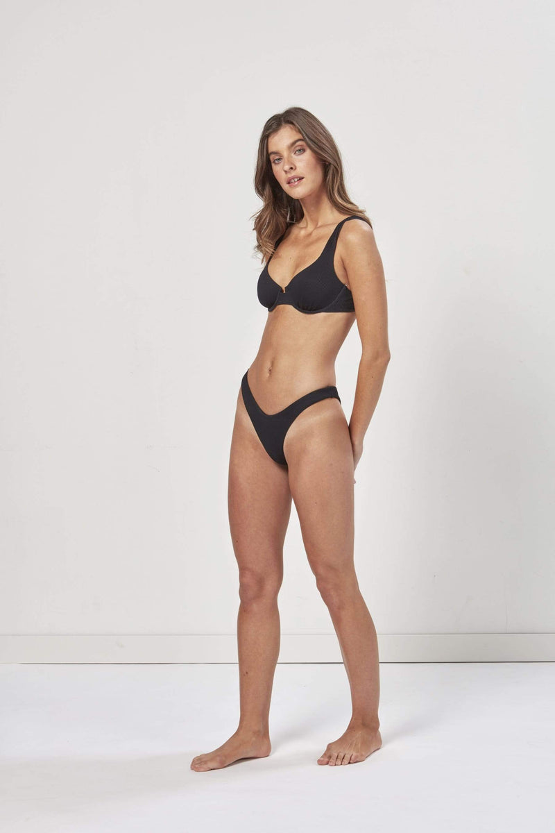 Charlie Holiday Swim Lula Bikini Brief Black