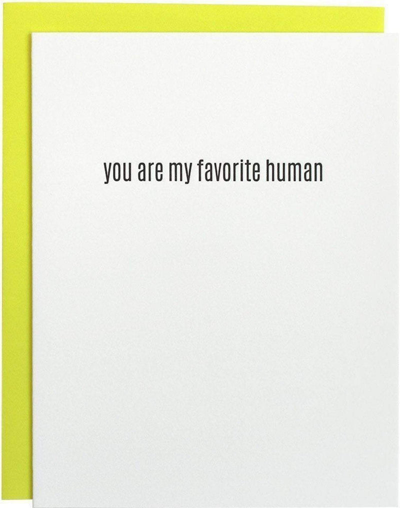 Chez Gagne Gift One Size / Multi / 1038 Favorite Human Letterpress Card