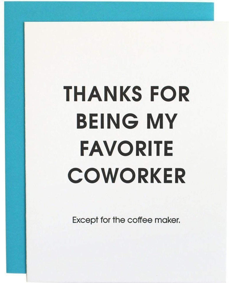 Favorite Coworker Coffee Maker Card