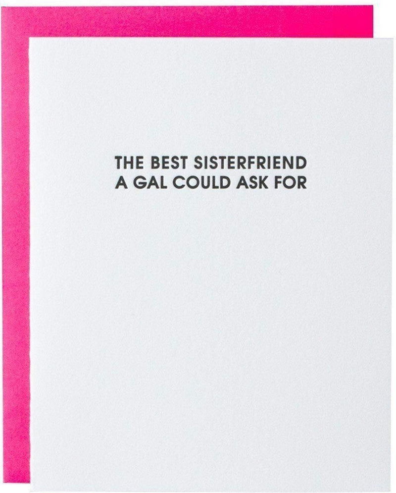 Best Sisterfriend Letterpress Card